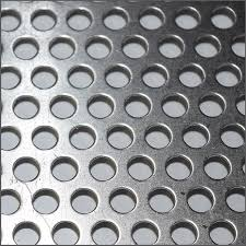 perforated aluminum sheet texture